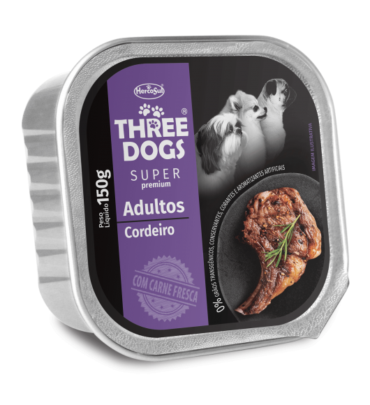 PATE THREE DOGS ADULTOS - SABOR CORDERO