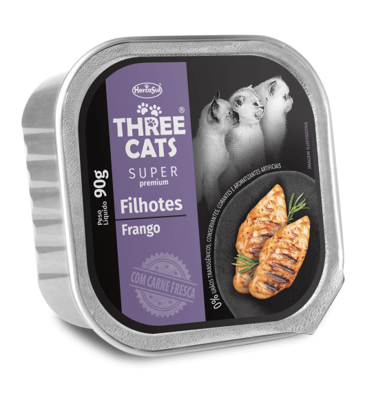 PATE THREE CATS KITTENS - CHICKEN FLAVOR