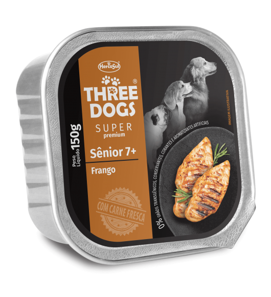 PATÉ THREE DOGS SÉNIOR – SABOR POLLO