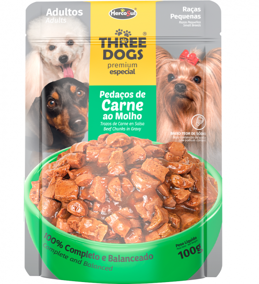 SACHET THREE DOGS ORIGINAL - ADULTOS SMALL BREEDS