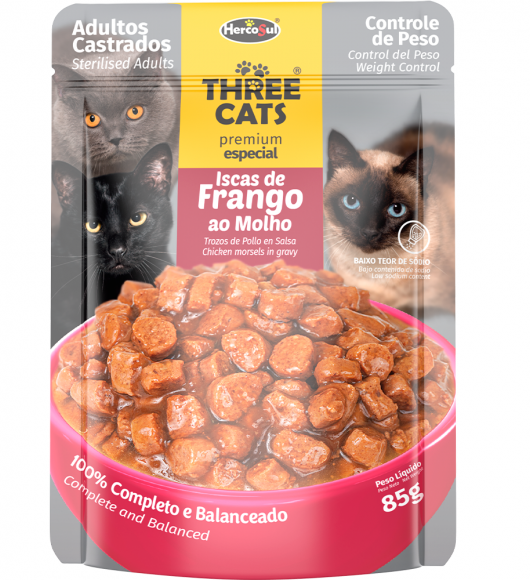 SACHET THREE CATS - CASTRADOS